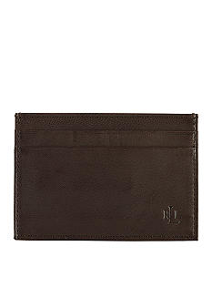 Lauren Ralph Lauren Leathergoods Burnished Brown Money Clip