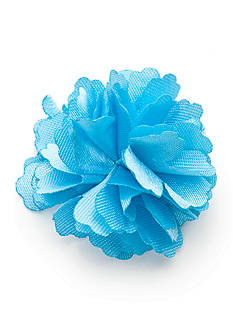 Madison Solid Light Blue Floral Lapel Pin