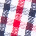 Men's Handkerchiefs: Navy/Red Madison Gingham Pocket Square