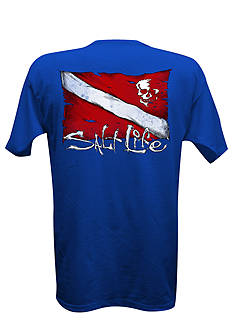 Salt Life Dive Flag and Skull Tee