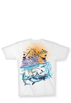 Salt Life Shark Frenzy Tee