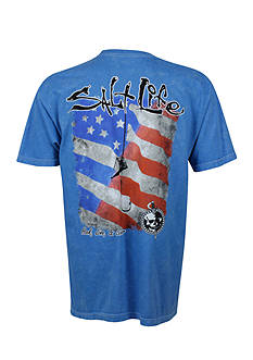 Salt Life Short Sleeve Hook Line Sinker Flag T-Shirt