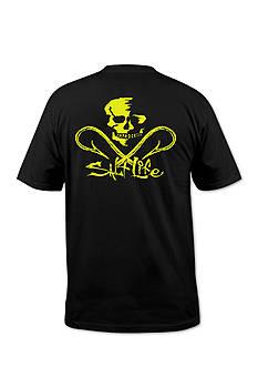 Salt Life Neon Skull And Hooks Short Sleeve Graphic Tee