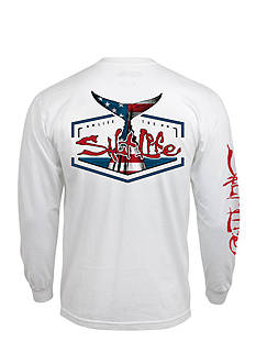 Salt Life Long Sleeve American Tail Graphic Tee