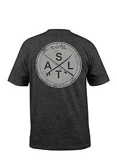Salt Life Stacked Logo Graphic Pocket Tee