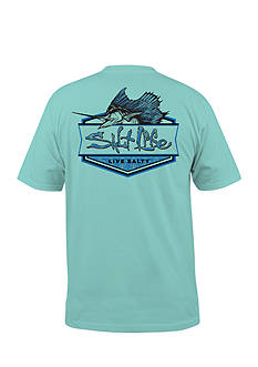 Salt Life Short Sleeve Sailfish Badge Pocket Tee