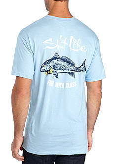 Salt Life Short Sleeve Fish With Class Pocket Tee