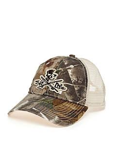 Salt Life Skull & Poles Camo Trucker Hat