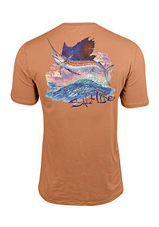 Salt Life Full Sail SLX Performance Short Sleeve Pocket Graphic Tee