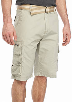 Plugg™ Challenger Belted Cargo Shorts