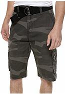 Plugg™ Beacon Belted Ripstop Cargo Shorts with Grommet Detail