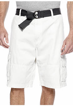 Plugg Big & Tall Lyndon Twill Cargo Shorts