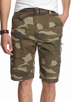Plugg™ 11-in Highland Belted Cargo Shorts