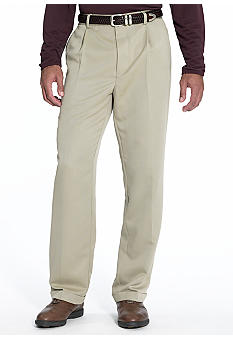 Greg Norman Collection Herringbone Pleated Pants