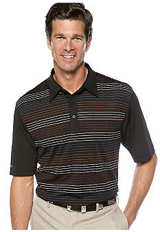 Greg Norman Collection Edo Texture Multi Stripe Polo