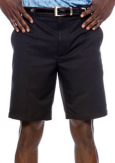 Greg Norman Collection Flat-Front Microfiber Shorts
