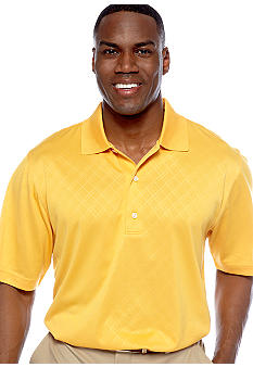 Greg Norman Collection Embossed Polo Knit Shirt