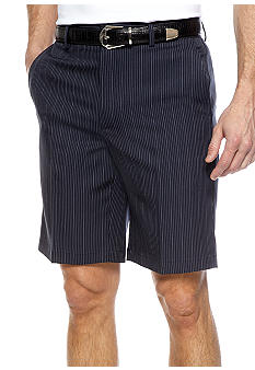 Greg Norman Collection Pinstripe Flat Front Shorts