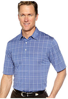 Greg Norman Collection Windowpane Polo