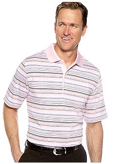 Greg Norman Collection Tropicana Textured Stripe Polo