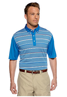 Greg Norman Collection Seaside Textured Stripe Polo