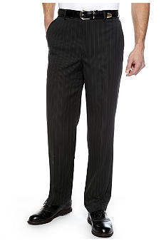Greg Norman Collection Pinstripe Flat Front Pants