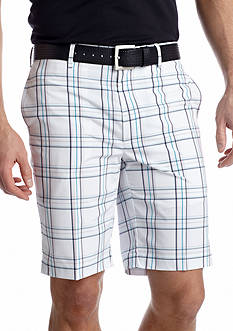 Greg Norman® Collection Flat Front Plaid Shorts