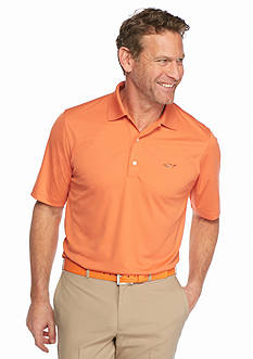 Greg Norman Collection Short Sleeve Solid Textured Polo Shirt