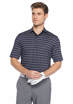 Greg Norman Collection Striped Weather-Knit Polo Shirt