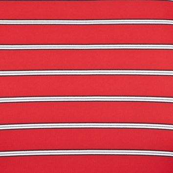 Men: Short Sleeve Sale: British Red Greg Norman Collection Protek Microlux Stripe Polo Shirt