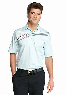 Greg Norman Collection Screen Print Stripe Polo Shirt