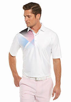 Greg Norman Collection Micro Pique Screen-Print Polo Shirt