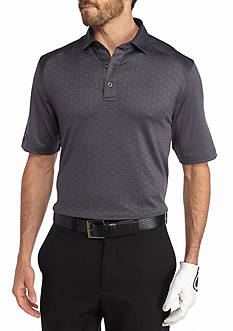 Greg Norman Collection Textured Solid Polo Shirt