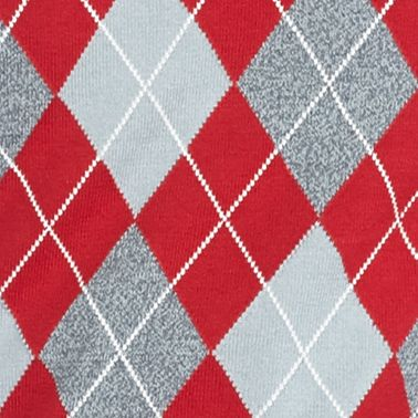 Saddlebred®: Apple Red Saddlebred Allover Argyle Vest