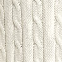 Saddlebred®: Ivory Tusk Saddlebred Allover Cable Sweater