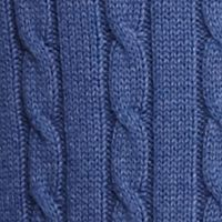 Saddlebred®: Indigo Heather Saddlebred Allover Cable Sweater