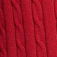 Saddlebred®: Apple Red Saddlebred Allover Cable Sweater