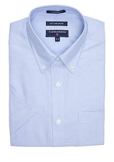 Saddlebred Regular-Fit Oxford Short-Sleeve Dress Shirt