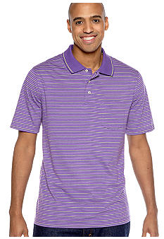 Saddlebred Big & Tall Stripe Jersey Pocket Polo