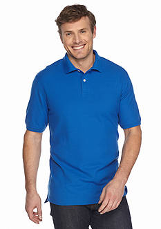 Saddlebred Big & Tall Short Sleeve Pique Polo Shirt