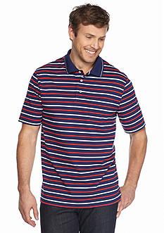 Saddlebred Big & Tall Short Sleeve Thin Stripe Jersey Polo Shirt