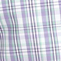 Saddlebred Big & Tall Sale: Mint/Purple Saddlebred Big & Tall Short Sleeve Easy Care Plaid Shirt