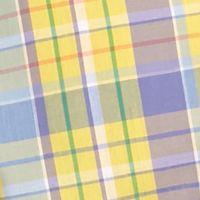 Saddlebred Big & Tall Sale: Yellow/Purple Saddlebred Big & Tall Short Sleeve Easy Care Plaid Shirt