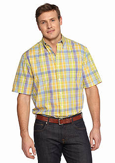 Saddlebred Big & Tall Short Sleeve Easy Care Plaid Shirt