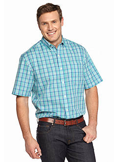 Saddlebred Big & Tall Short Sleeve Easy Care Plaid Shirt