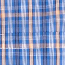 Big and Tall Solid Shirts: Blue Plaid Saddlebred Big & Tall Short Sleeve Easy Care Plaid Shirt