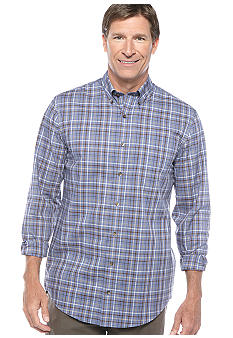 Saddlebred® Big & Tall Wrinkle Free Plaid Woven