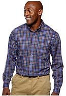 Saddlebred® Big & Tall Wrinkle Free Plaid Shirt