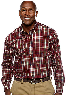 Saddlebred Big & Tall Wrinkle Free Plaid Shirt
