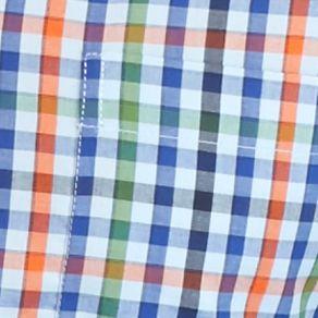Saddlebred Big & Tall Sale: Blue Multi Saddlebred Big & Tall Long Sleeve Small Gingham Shirt